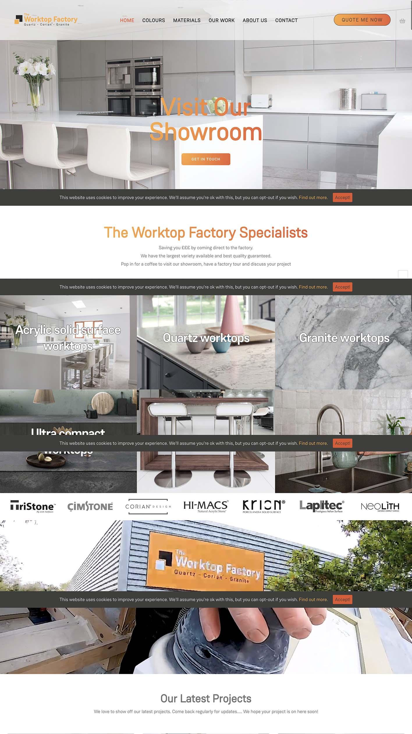 The Worktop Factory website